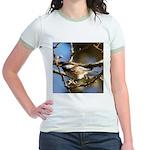 Chickadee in Tree Jr. Ringer T-Shirt