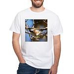 Chickadee in Tree White T-Shirt