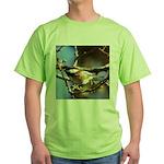 Chickadee in Tree Green T-Shirt