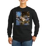 Chickadee in Tree Long Sleeve Dark T-Shirt