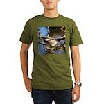 Chickadee in Tree Organic Men's T-Shirt (dark)