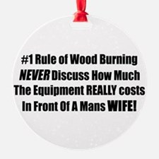 Funny Wood stove Ornament
