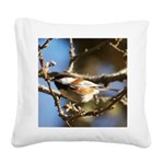Chickadee in Tree Square Canvas Pillow