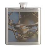 Chickadee in Tree Flask