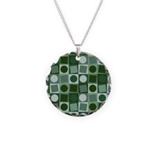 Fashionable green circles and square pattern Neckl