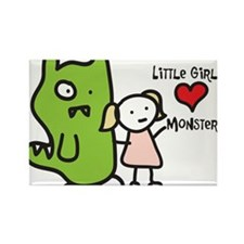 Love Monsters Rectangle Magnet