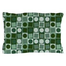 Fashionable green circles and square pattern Pillo