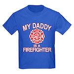 My Dad Is a Firefighter Kids Dark T-Shirt