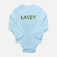 Lacey, Vintage Camo, Long Sleeve Infant Bodysuit