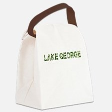 Lake George, Vintage Camo, Canvas Lunch Bag