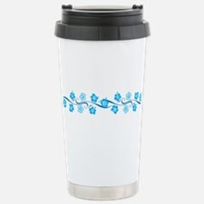Flower Wave Stripe Travel Mug