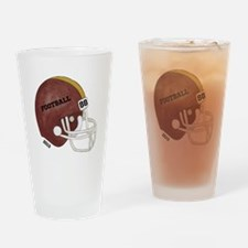 Football Helmet Drinking Glass