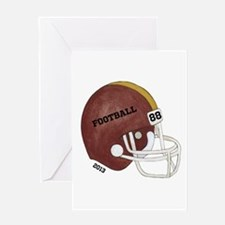 Football Helmet Greeting Card