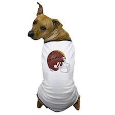 Football Helmet Dog T-Shirt