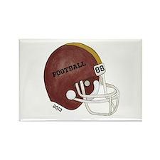 Football Helmet Rectangle Magnet