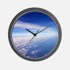 Clouds Blue Sky Wall Clock