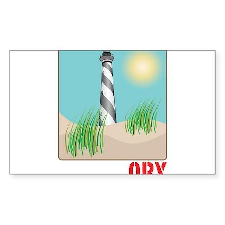 North Carolina - OBX Sticker (Rectangle)