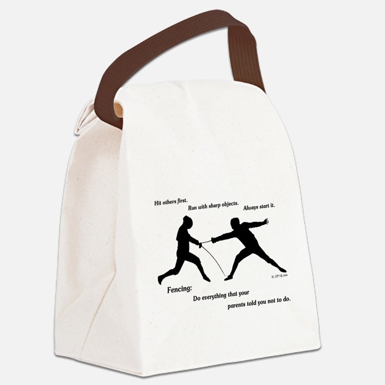 Hit First Canvas Lunch Bag