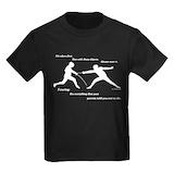 Fencing Kids T-shirts (Dark)