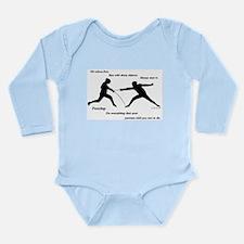 Hit First Long Sleeve Infant Bodysuit