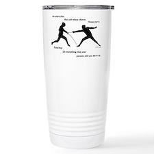 Hit First Travel Mug