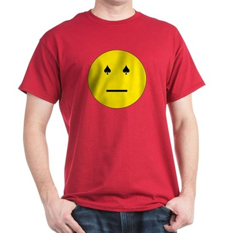 Poker Face Emoticon Dark T-Shirt