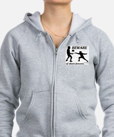 Beware of Short Fencers Zip Hoody