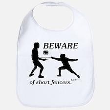 Beware of Short Fencers Bib