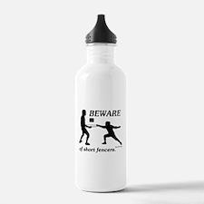 Beware of Short Fencers Water Bottle