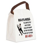 DEFENSE.png Canvas Lunch Bag