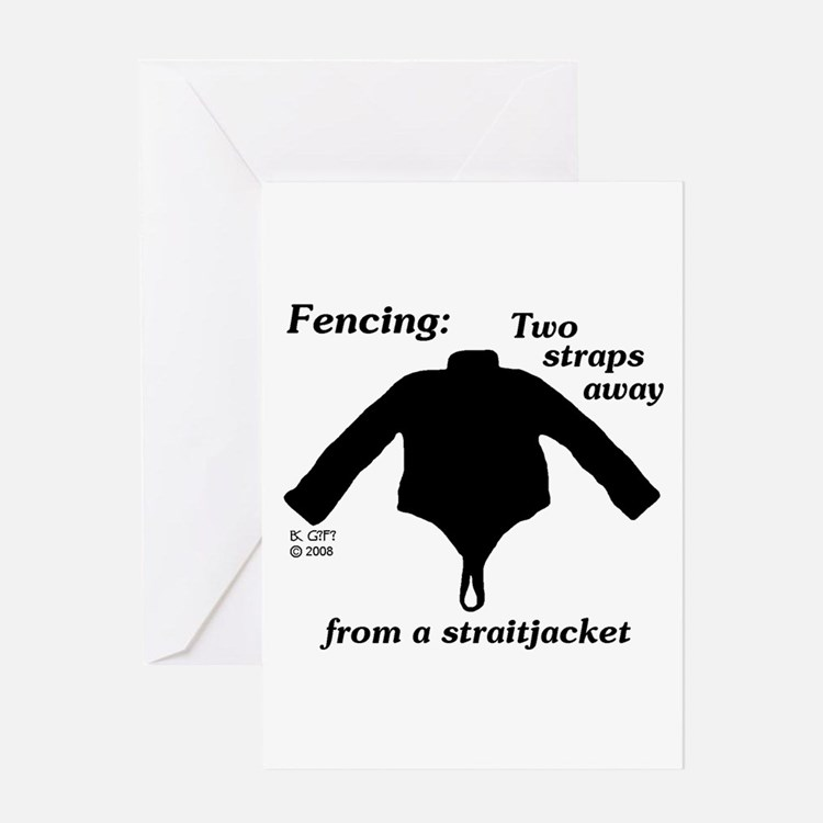 Straitjacket Greeting Card