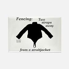 Straitjacket Rectangle Magnet
