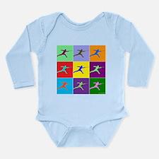 Pop Art Lunge Long Sleeve Infant Bodysuit