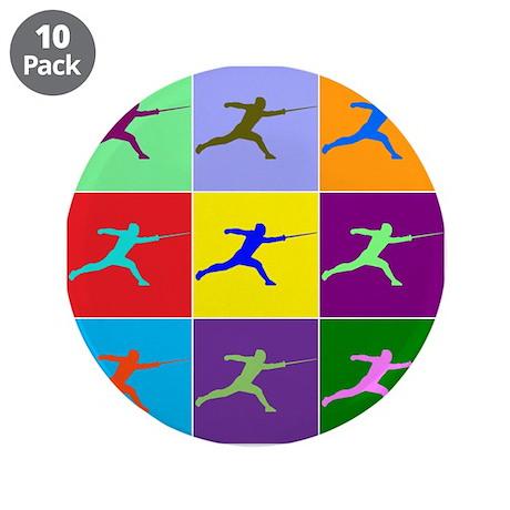 "Pop Art Lunge 3.5"" Button (10 pack)"