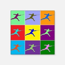 "Pop Art Lunge Square Sticker 3"" x 3"""