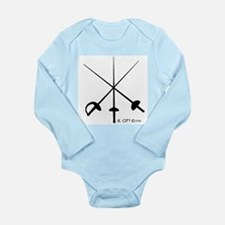 Three Weapon Long Sleeve Infant Bodysuit