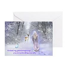 Snow Goddess Greeting Card