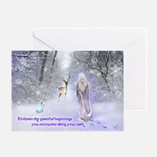 Snow Goddess Greeting Card