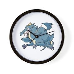 Blue Slate Dragon Wall Clock