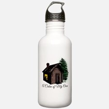 A Cabin of my own Water Bottle