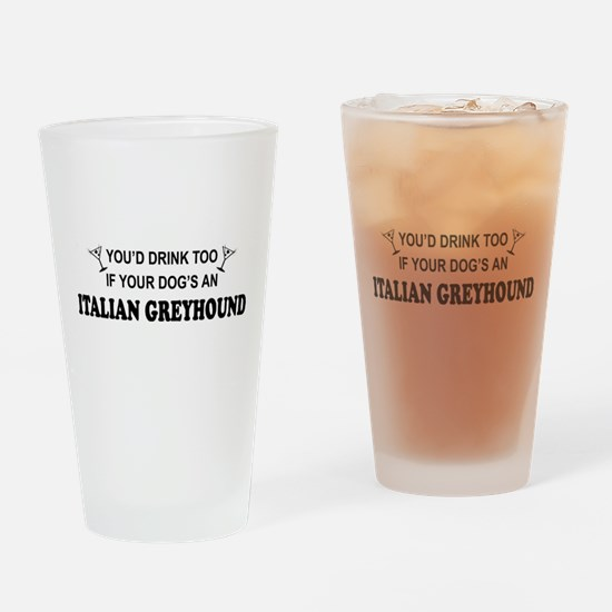 Unique Italian beer Drinking Glass