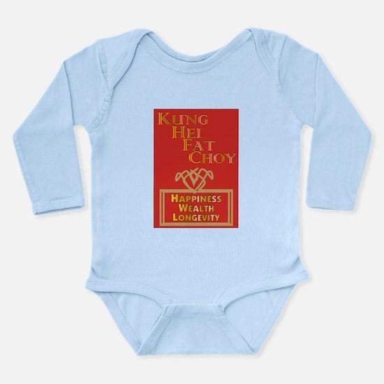 Kung Hei Fat Choy Long Sleeve Infant Bodysuit