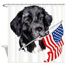 newf_with_flag.jpg Shower Curtain