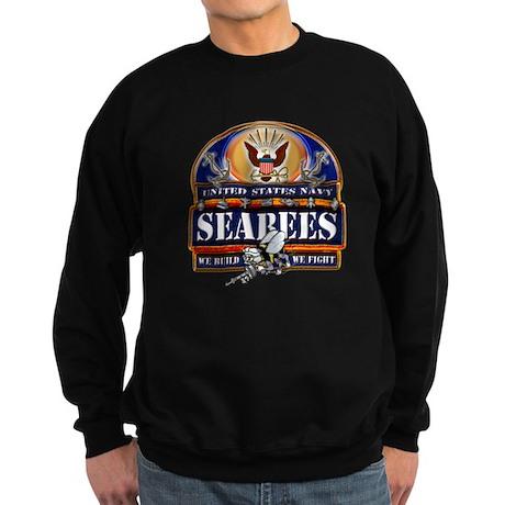 US Navy Seabees Blue We Fight Sweatshirt (dark)