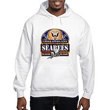 US Navy Seabees Blue We Fight Hoodie