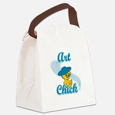 Art Chick #3 Canvas Lunch Bag