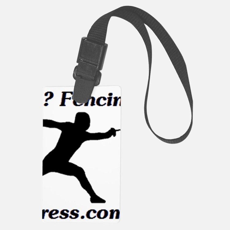 Fencing Hanukkah Luggage Tag