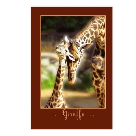 Giraffe Mom Baby Postcards (Package of 8)