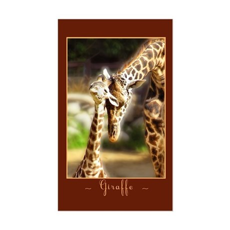 Giraffe Mom Baby Rectangle Sticker