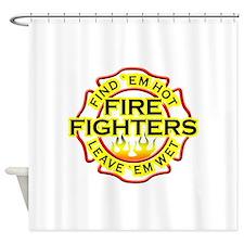 Find 'em hot, leave 'em wet! Shower Curtain